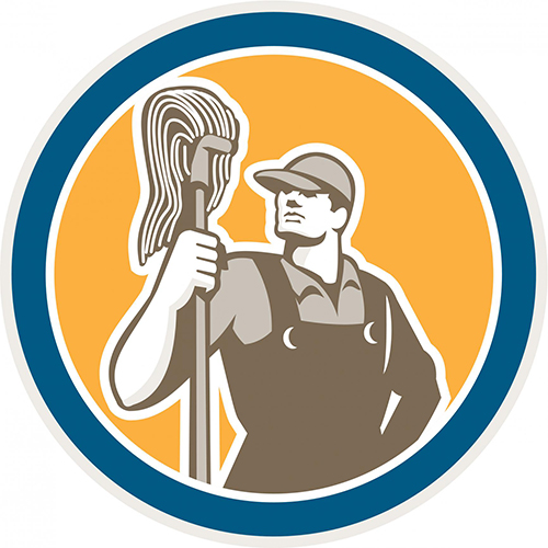cleaner cleaning services maid logo